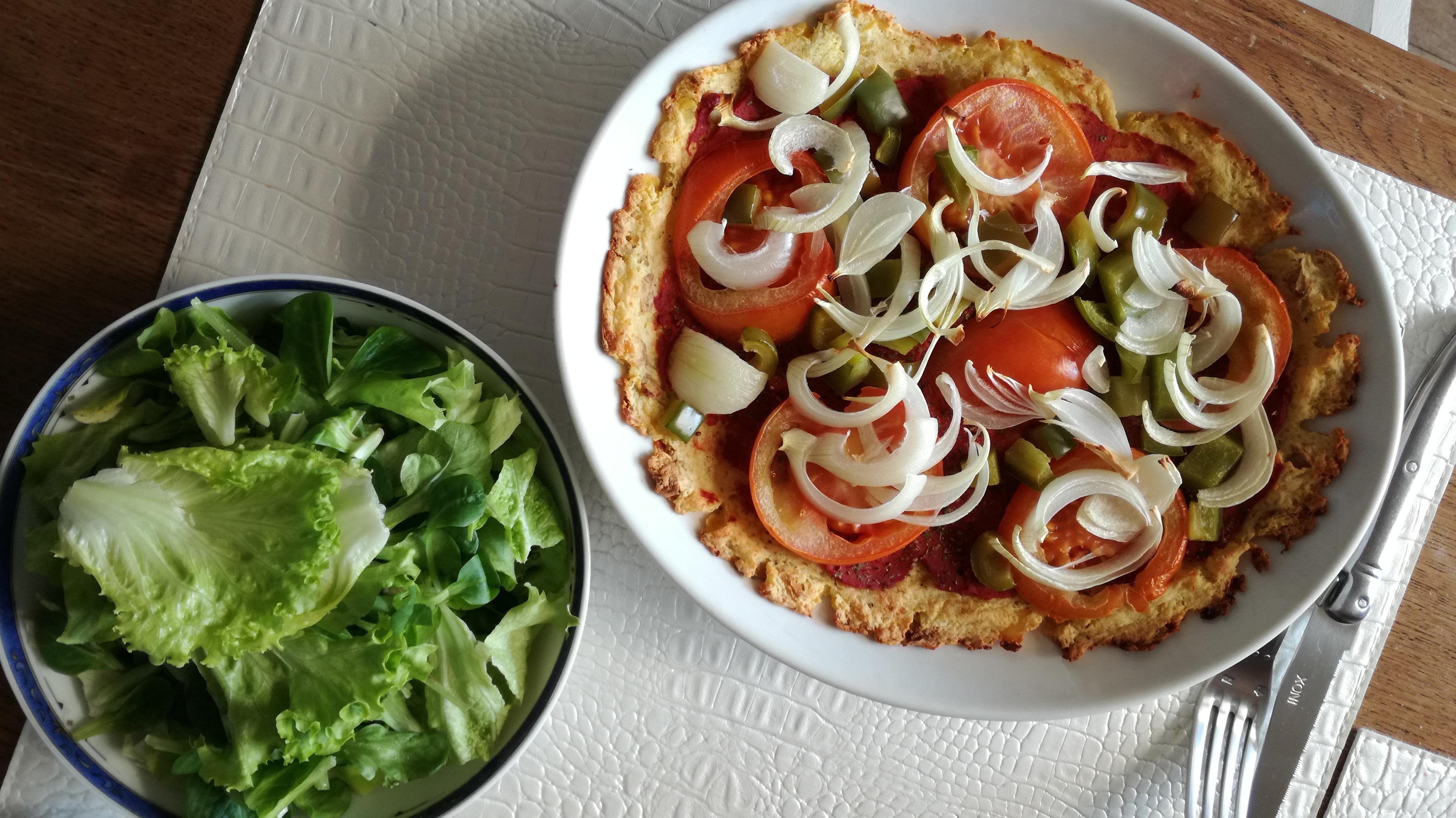 pizza de pommes de terre vegan et sans gluten médical médium compatible