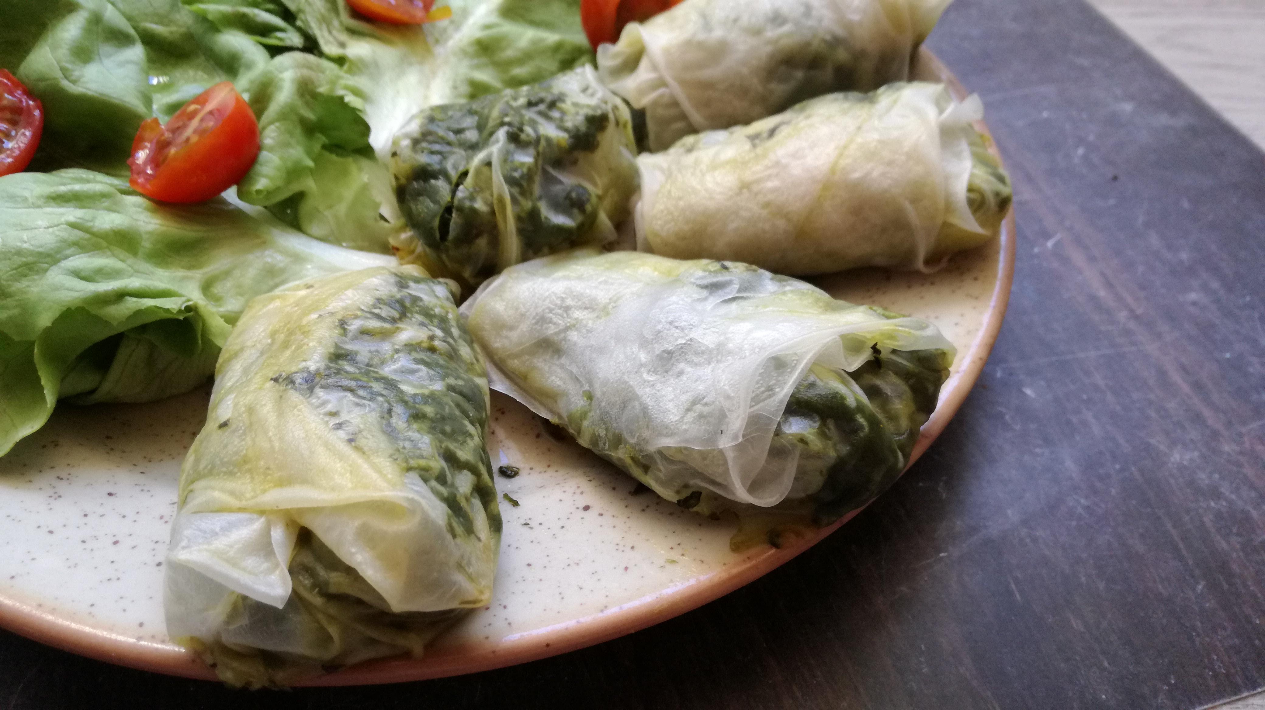 nems aux épinards vegan et sans gluten médical médium compatible