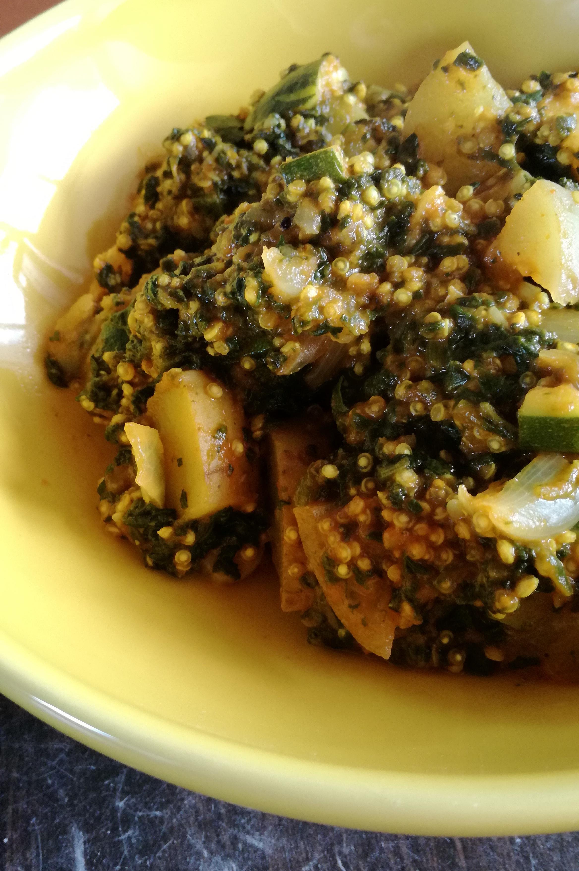 curry de quinoa et légumes vegan et sans gluten médical médium compatible