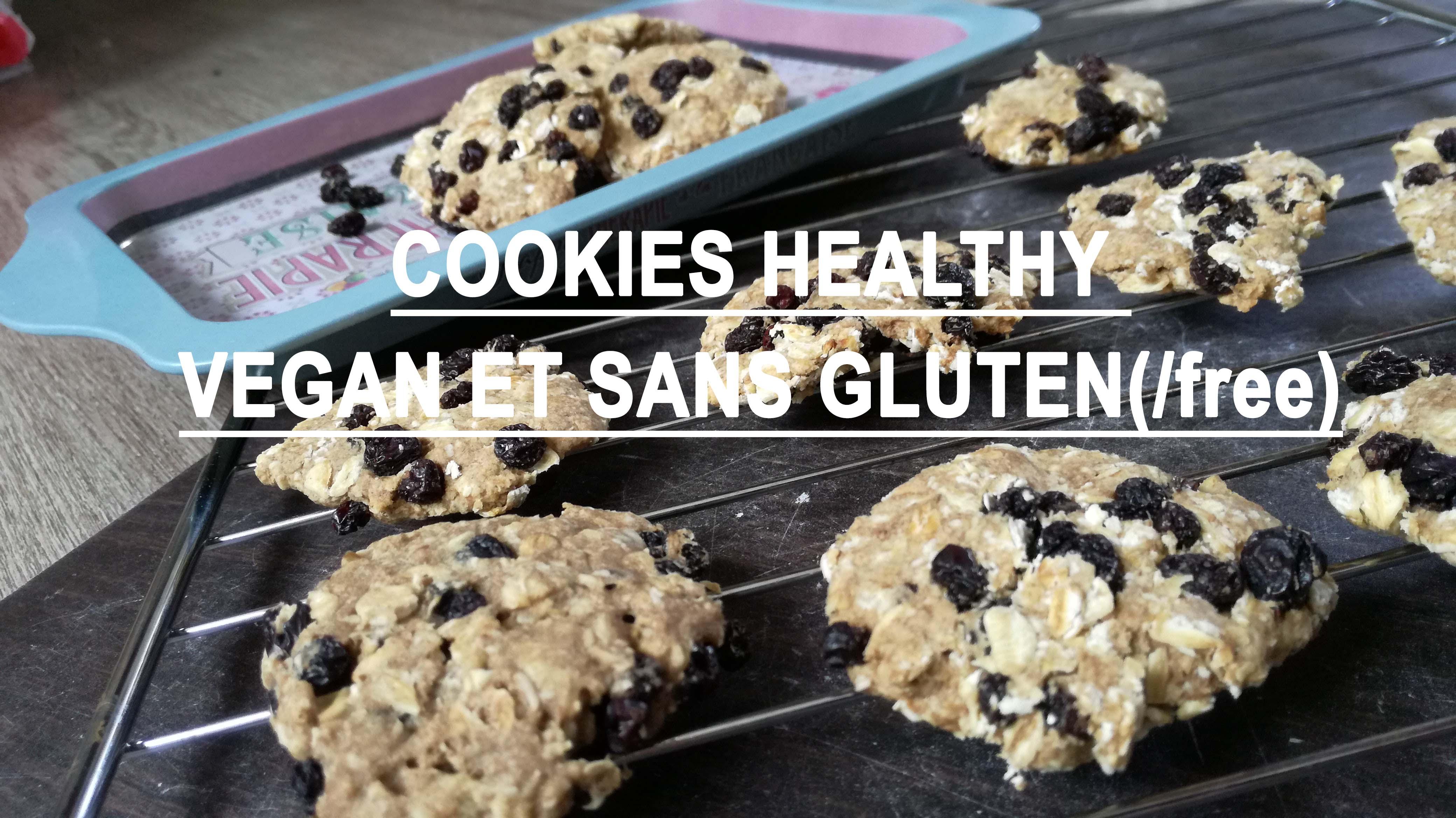 cookies aux raisins sur grille de cuisson vegan et sans gluten médical médium compatible