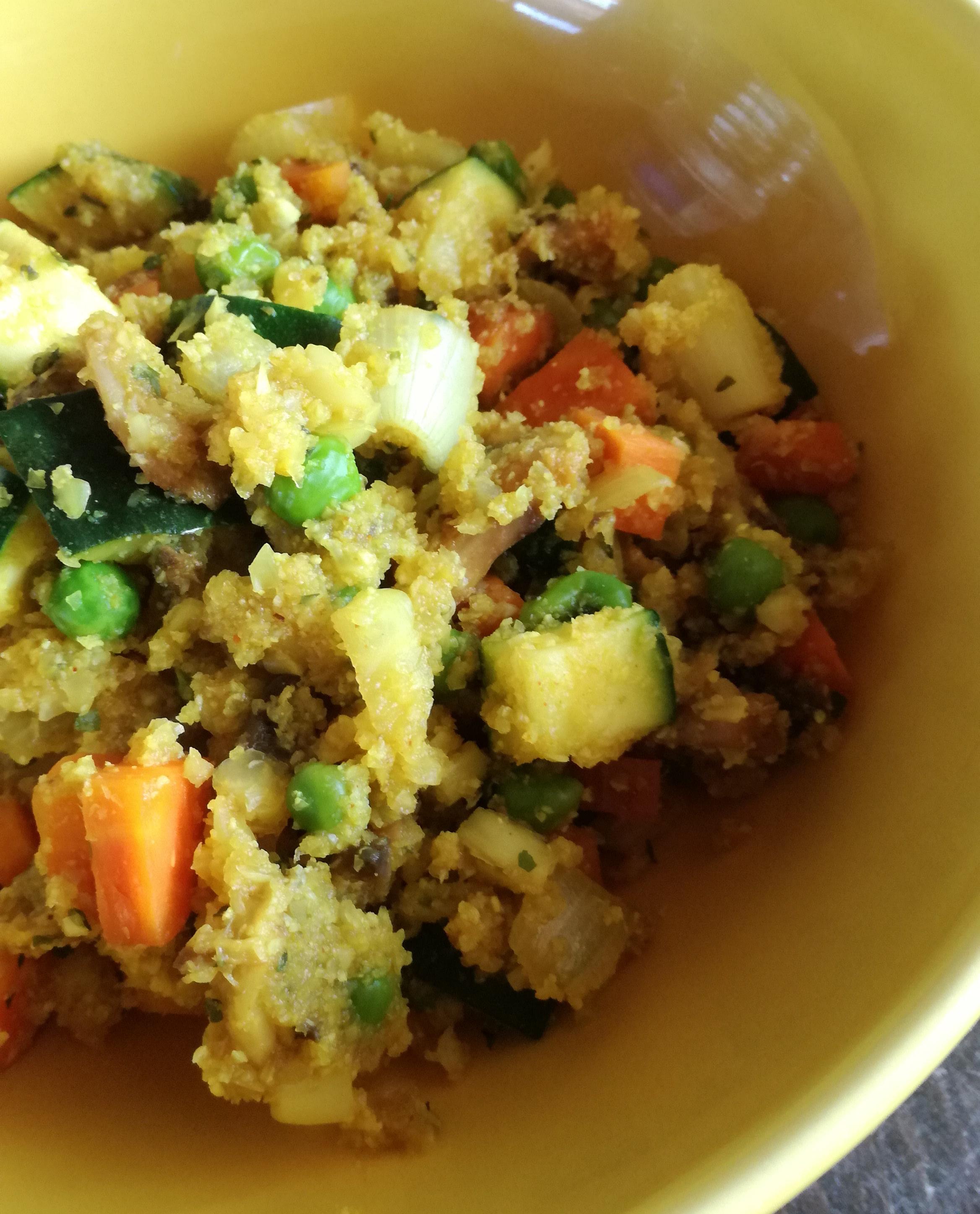 Riz de chou fleur aux légumes vegan et sans gluten médical médium compatible