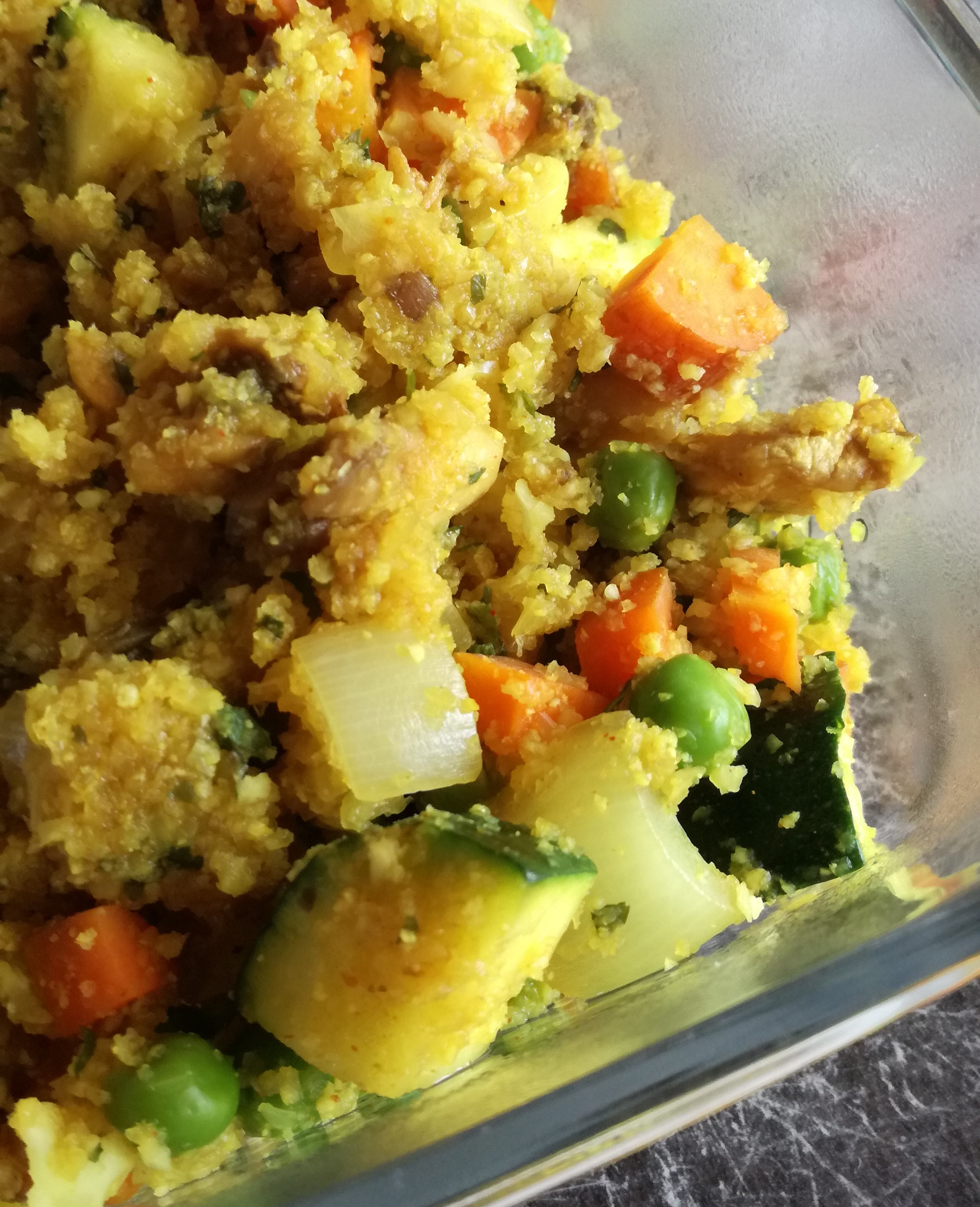 zoom riz de chou fleur aux légumes vegan et sans gluten médical médium compatible