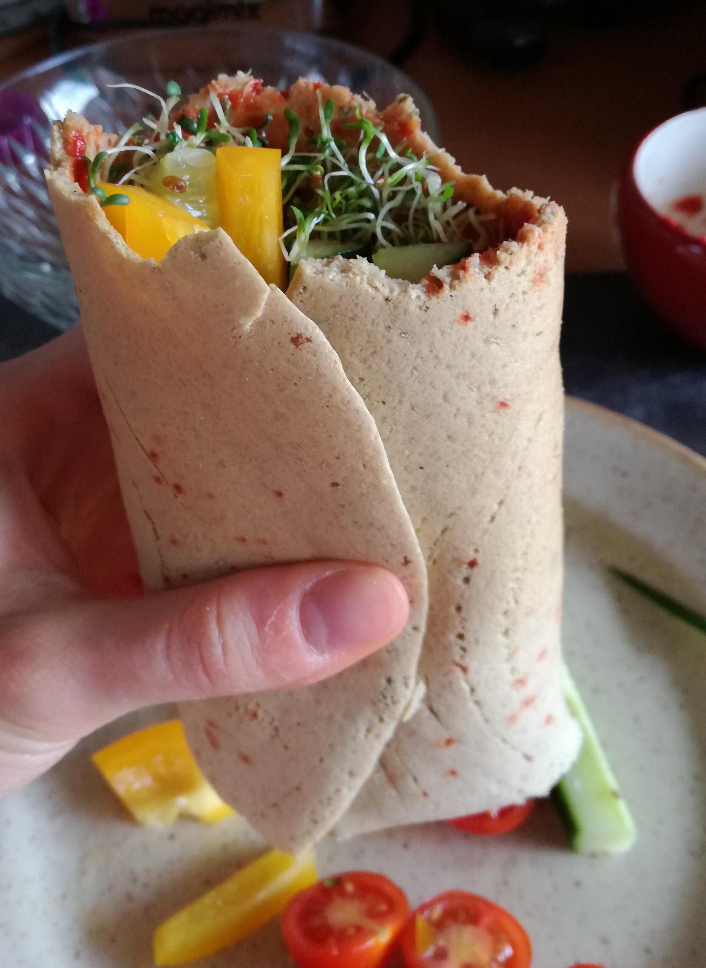 burritos aux crudités vegan et sans gluten médical médium compatible
