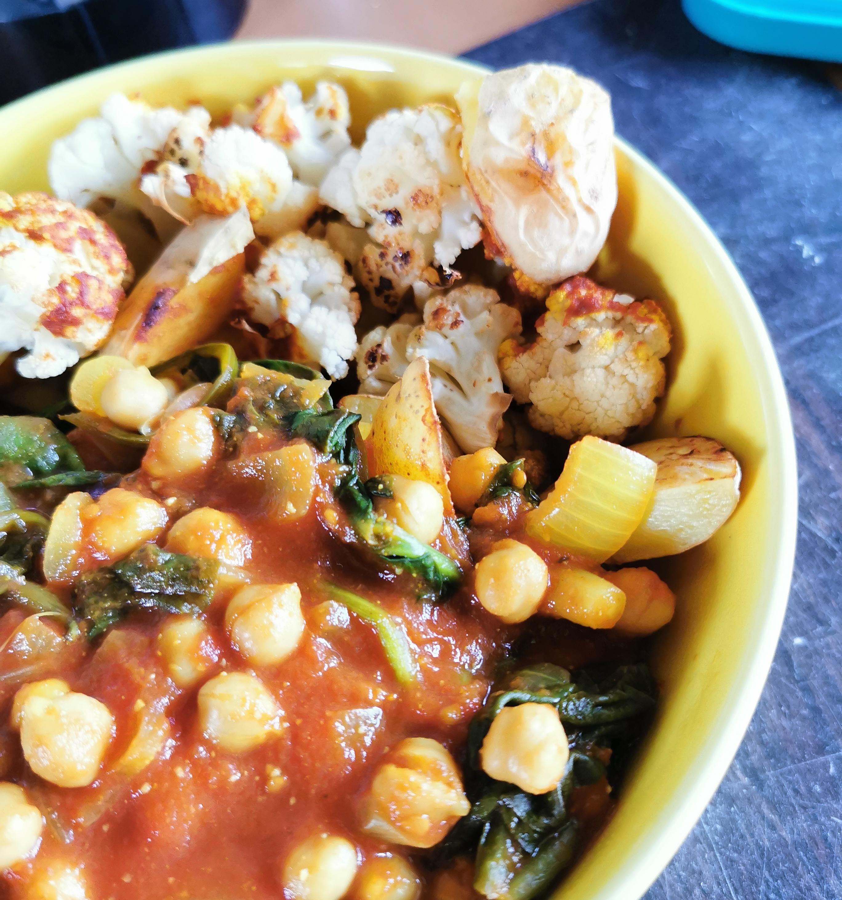 plat indien chana masala vegan et sans gluten médical médium compatible