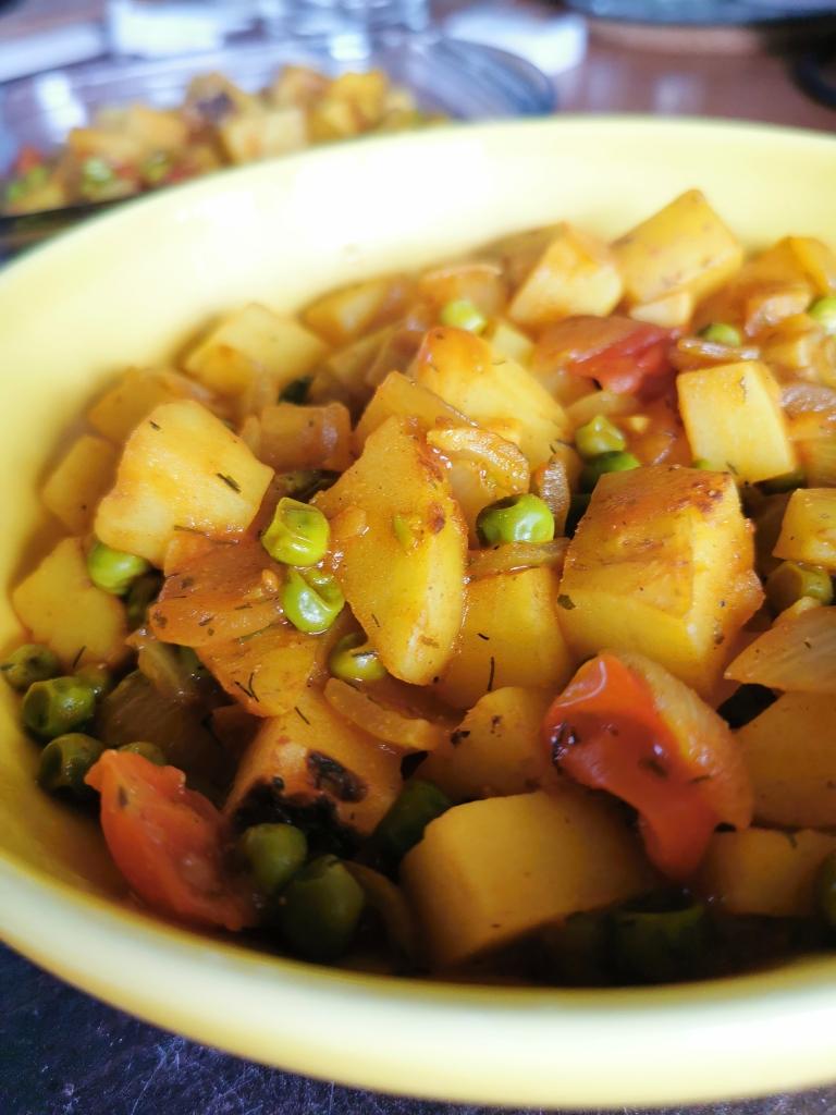zoom plat indien aloo matar vegan et sans gluten médical médium compatible