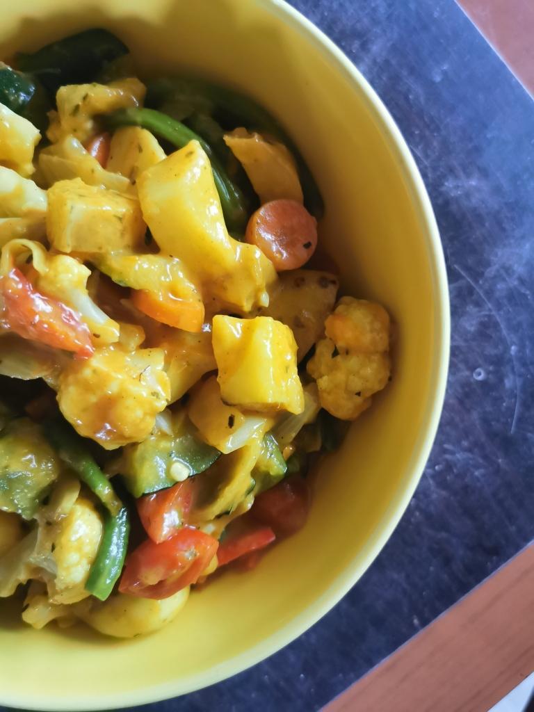 plat indien navratan korma vegan et sans gluten médical médium compatible
