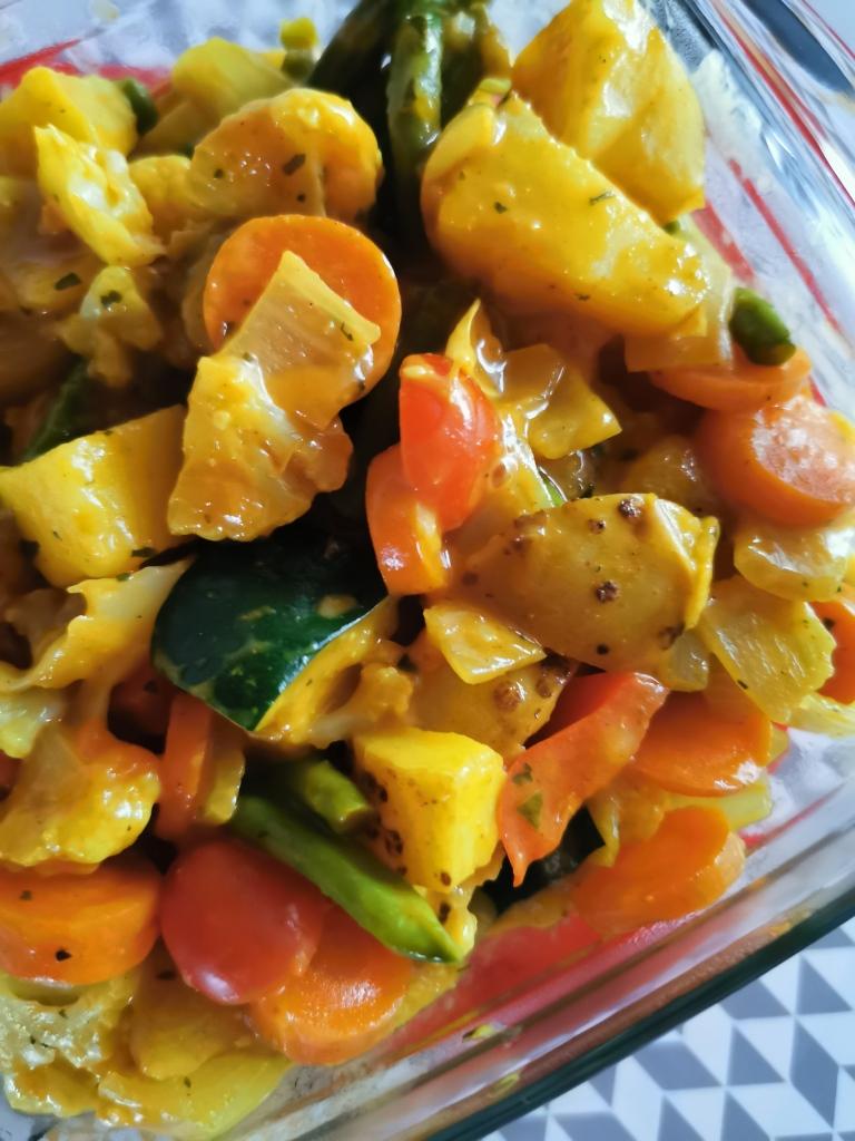 zoom plat indien navratan korma vegan et sans gluten médical médium compatible