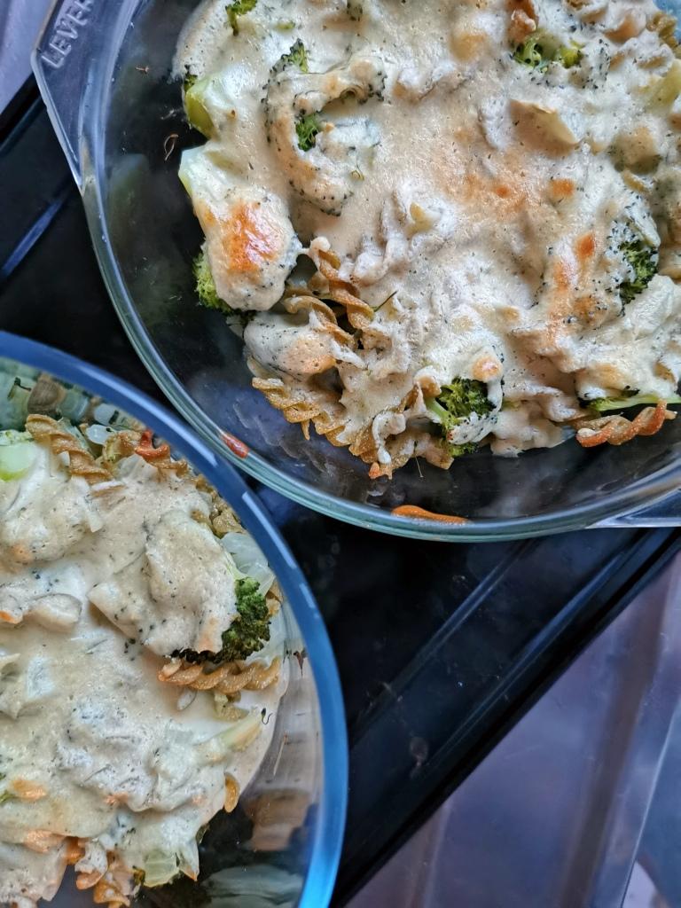 pâte à la crème de cajou et au brocoli vegan et sans gluten médical médium compatible