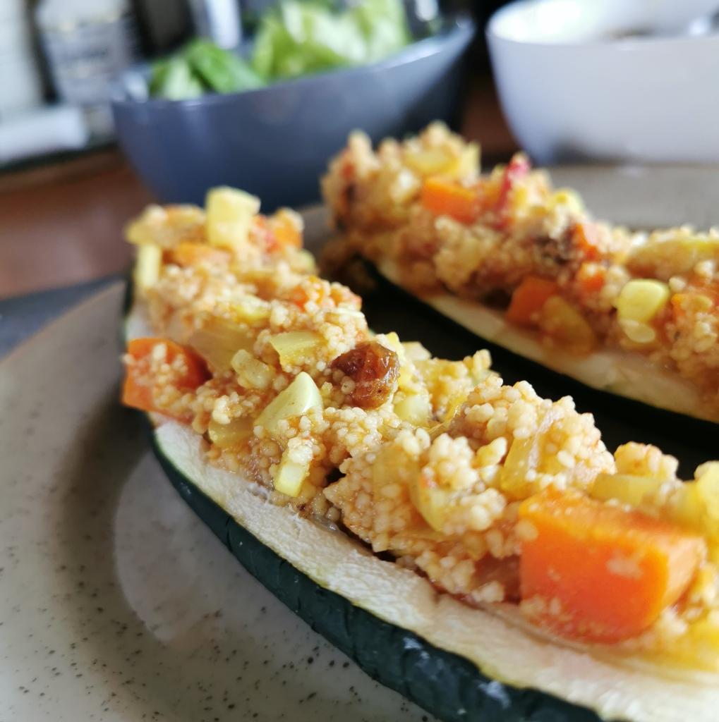 zoom courgette farcie au couscous marocain vegan et sans gluten médical médium compatible