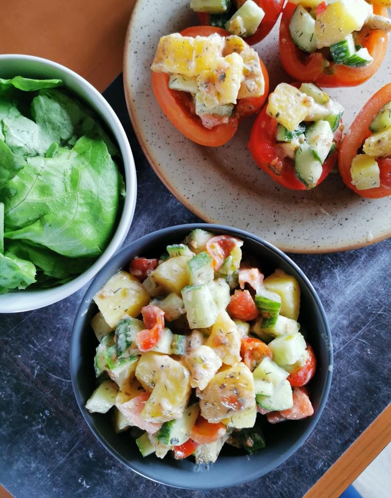piémontaise au tahini vegan et sans gluten médical médium compatible