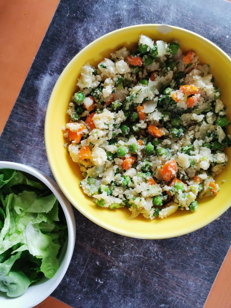 riz cantonais de chou-fleur vegan et sans gluten médical médium compatible
