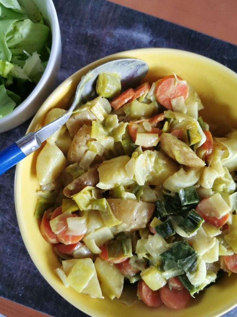 curry poireau noix de coco crémeux vegan et sans gluten médical médium compatible
