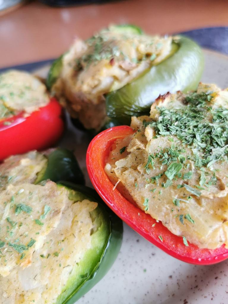 zoom poivrons farcis à la pomme de terre vegan et sans gluten médical médium compatible