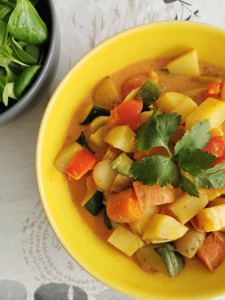 curry rouge thaï vegan et sans gluten médical médium compatible
