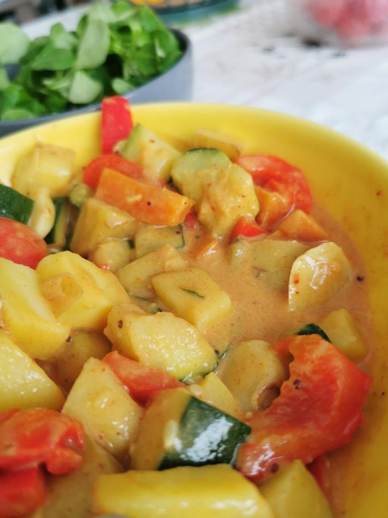zoom curry rouge thaï vegan et sans gluten médical médium compatible