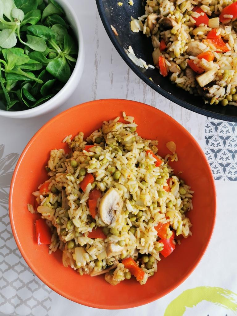 riz frit thai vegan et sans gluten médical médium compatible