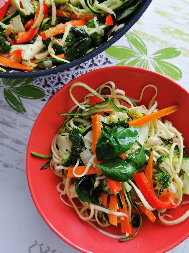 pad thai de courgette vegan et sans gluten médical médium compatible