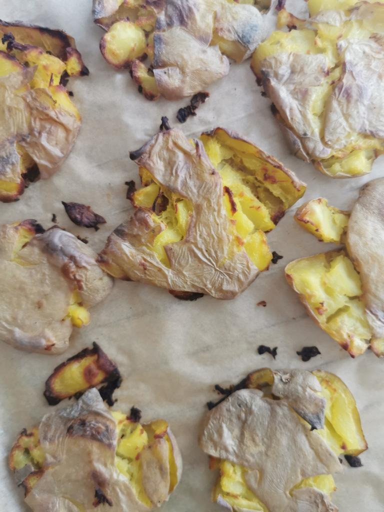 zoom pommes de terre rôties écrasées vegan et sans gluten médical médium compatible
