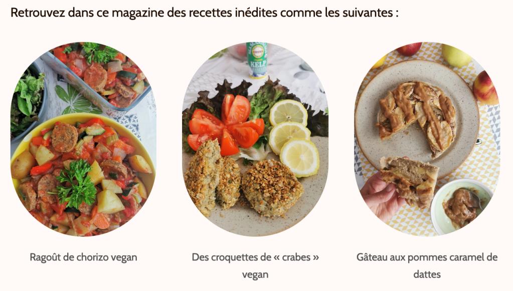 ragoût de chorizo croquettes de crabe gâteau aux pommes caramel de dattes vegan et sans gluten médical médium compatible