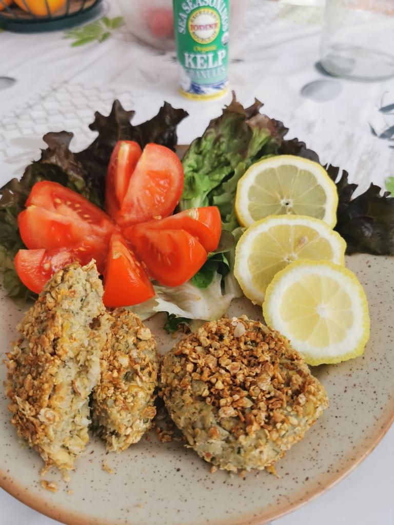 croquette de crabe vegan et sans gluten médical médium compatible