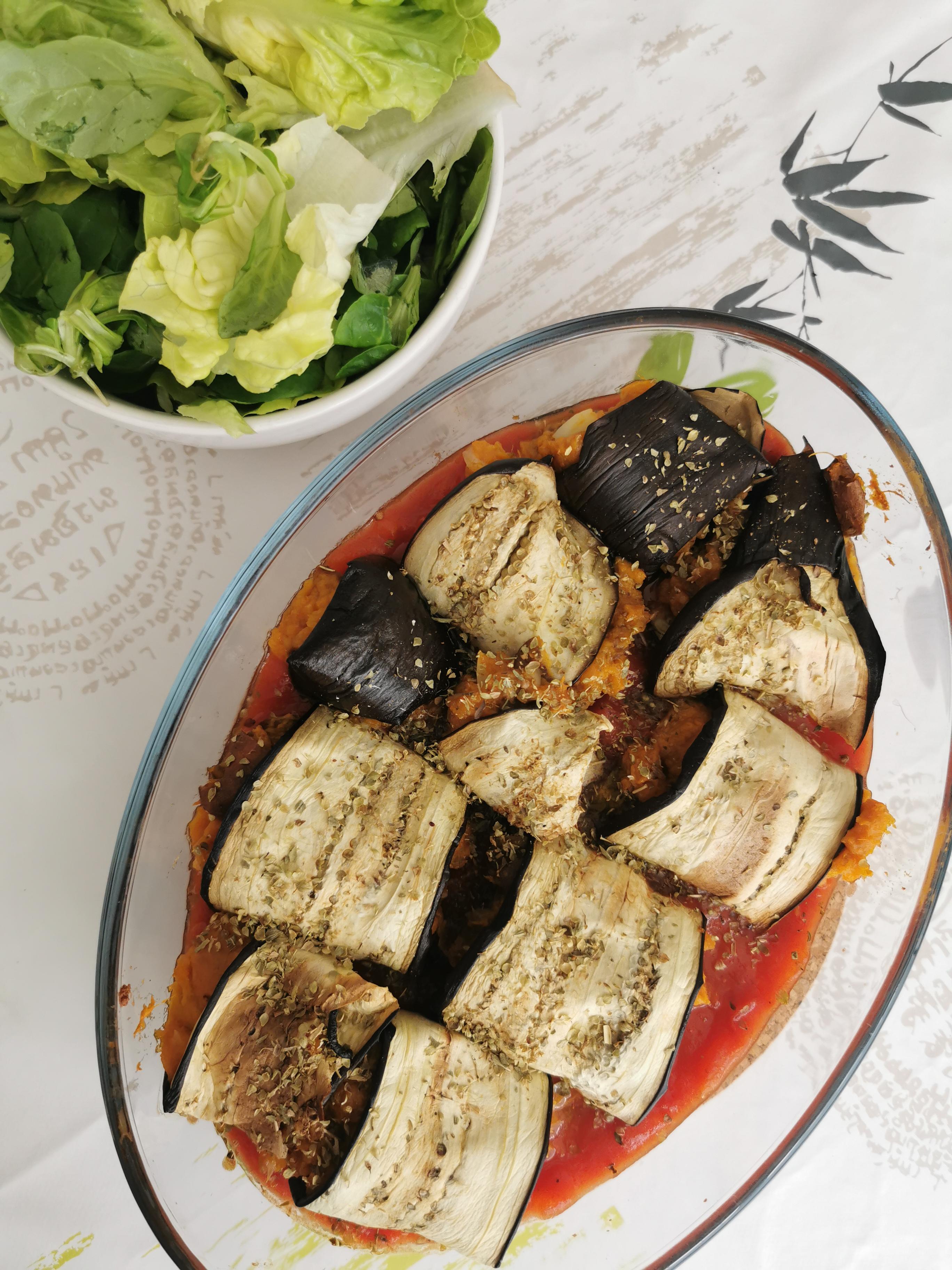 rouleaux d'aubergine à la patate douce vegan et sans gluten médical médium compatible