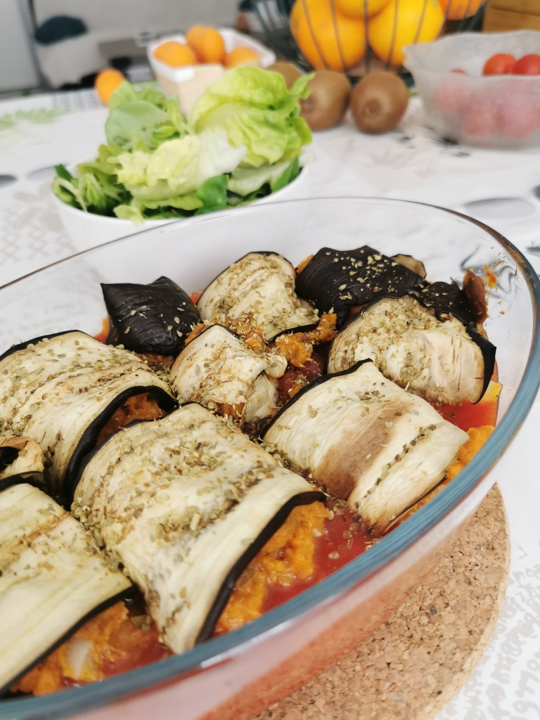 zoom rouleaux d'aubergine à la patate douce vegan et sans gluten médical médium compatible