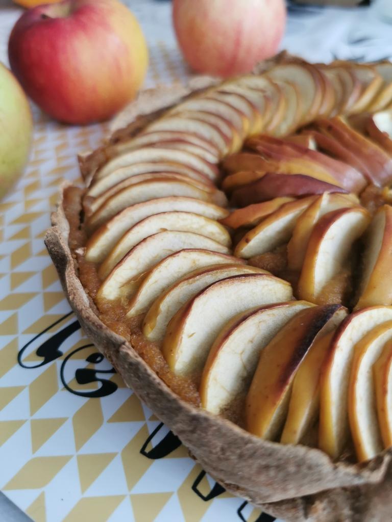 tarte aux pommes vegan et sans gluten médical médium compatible