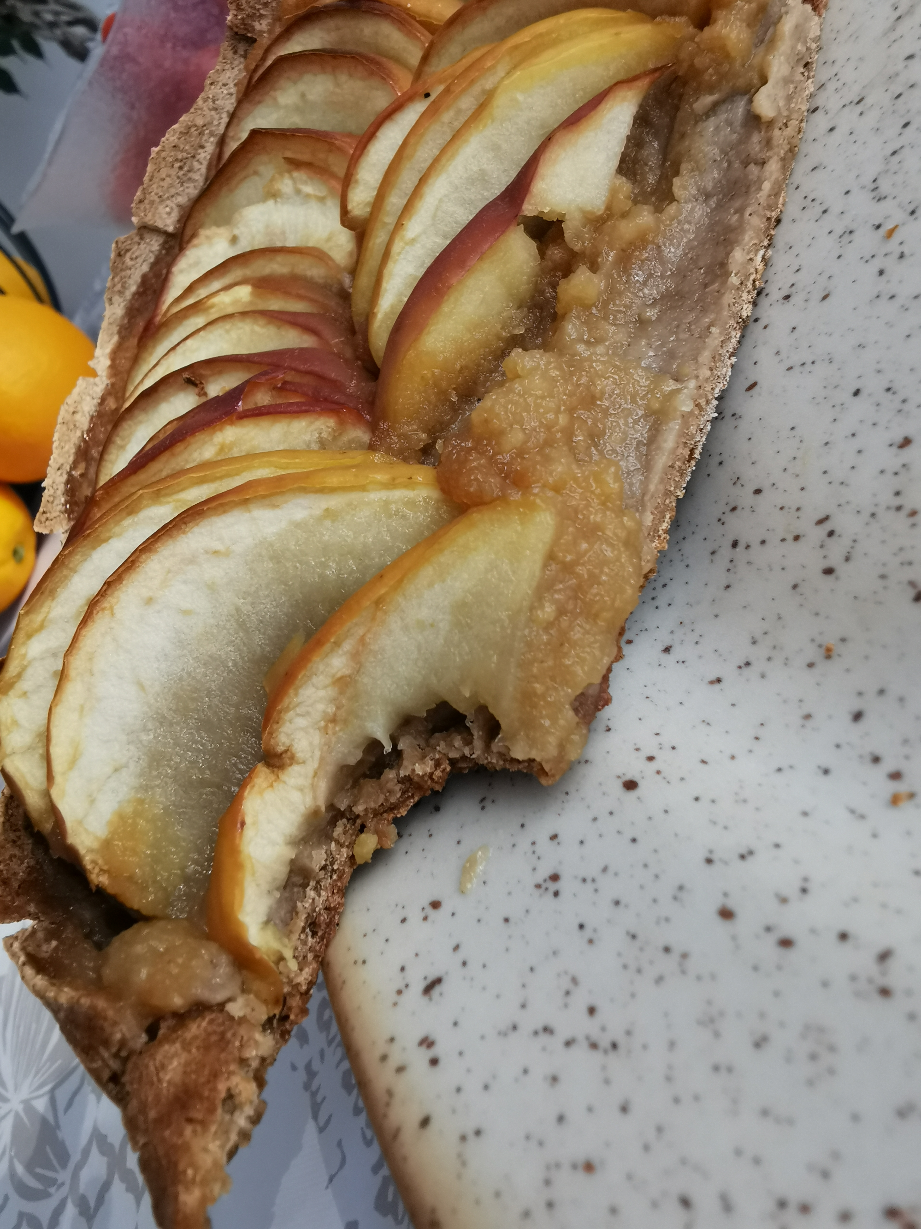 zoom tarte aux pommes vegan et sans gluten médical médium compatible