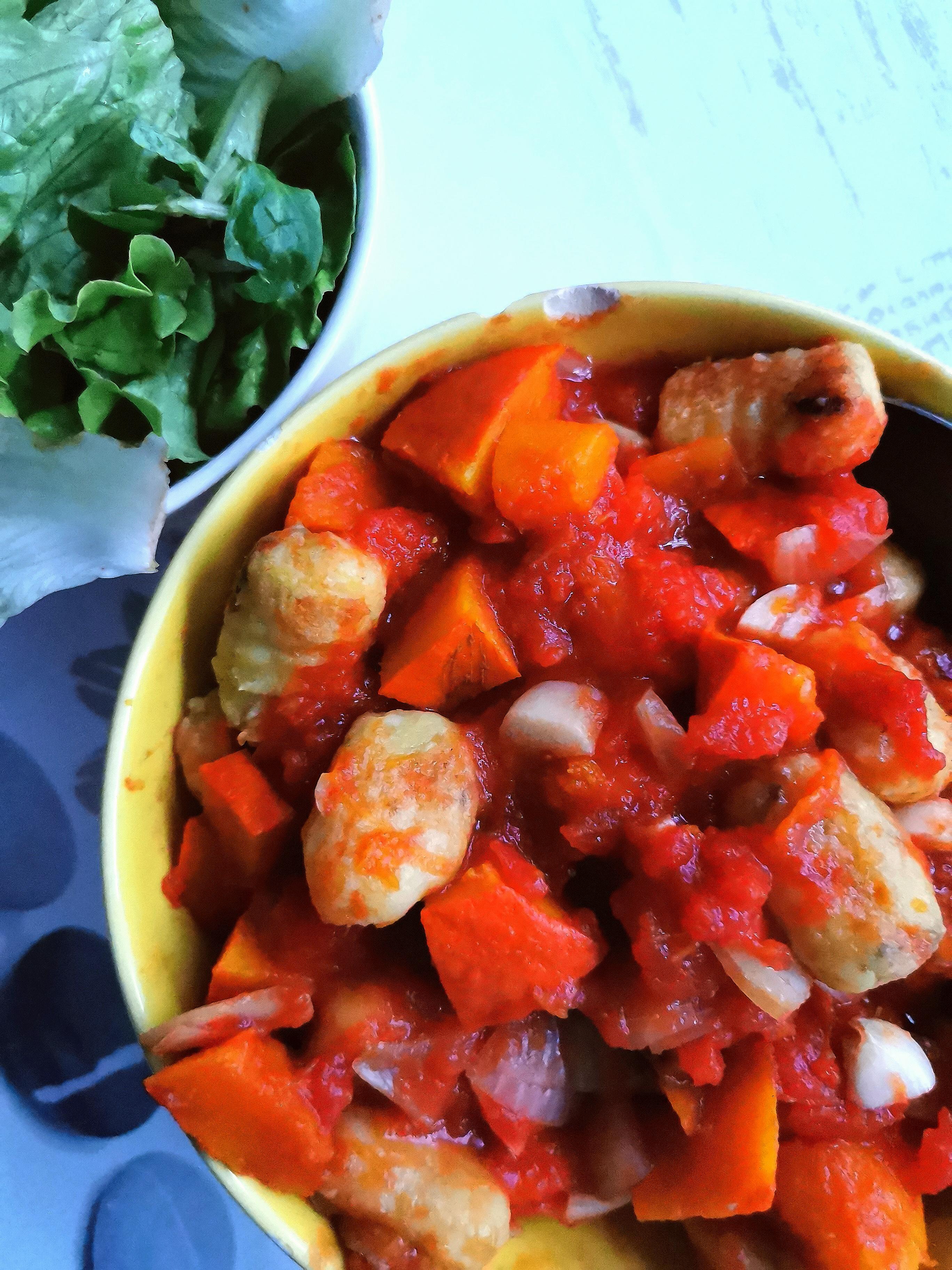 gnocchis vegan et sans gluten sur concassé de tomates compatible medical medium