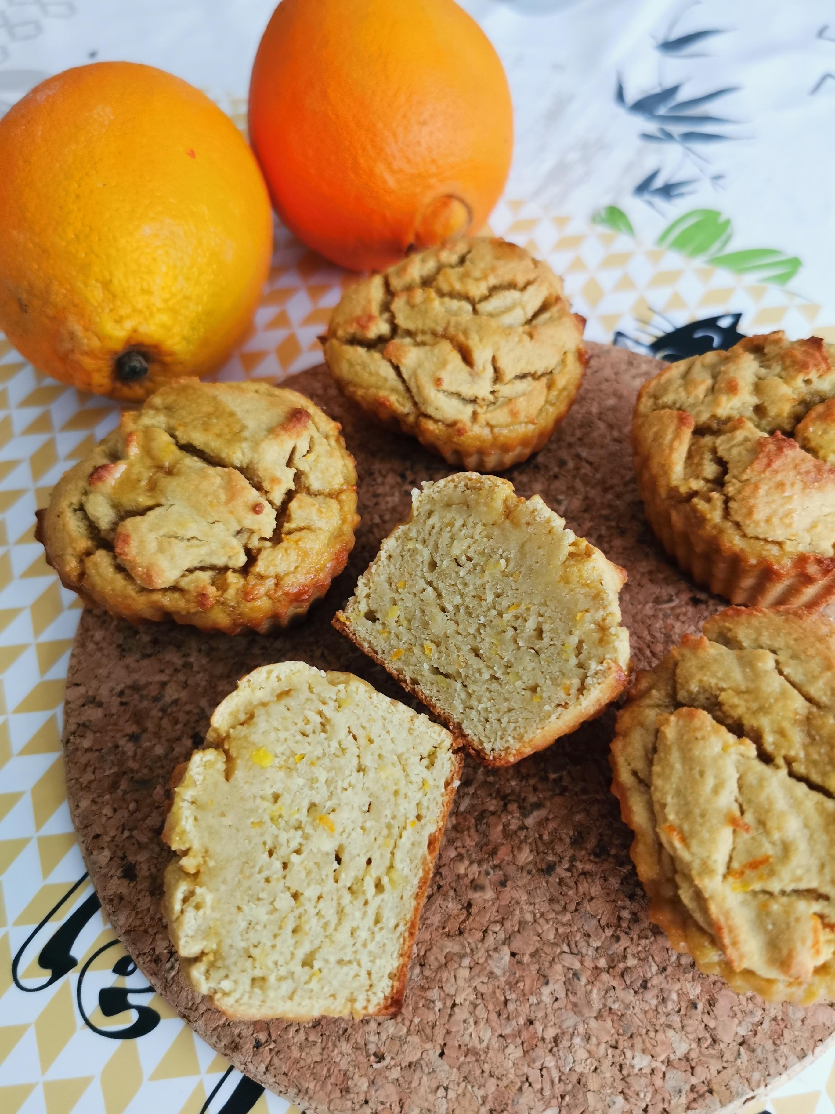 muffins à l'orange vegan sans gluten sans gras ajouté medical medium compatibles
