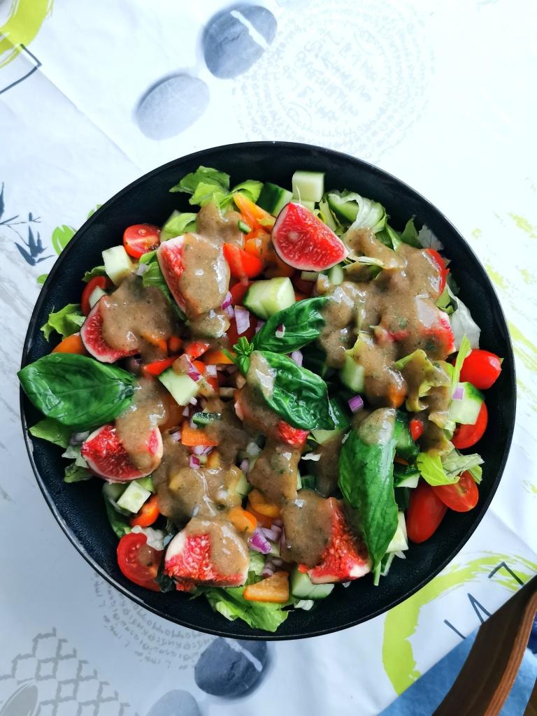 salade de figues vegan et sans gluten médical médium compatible