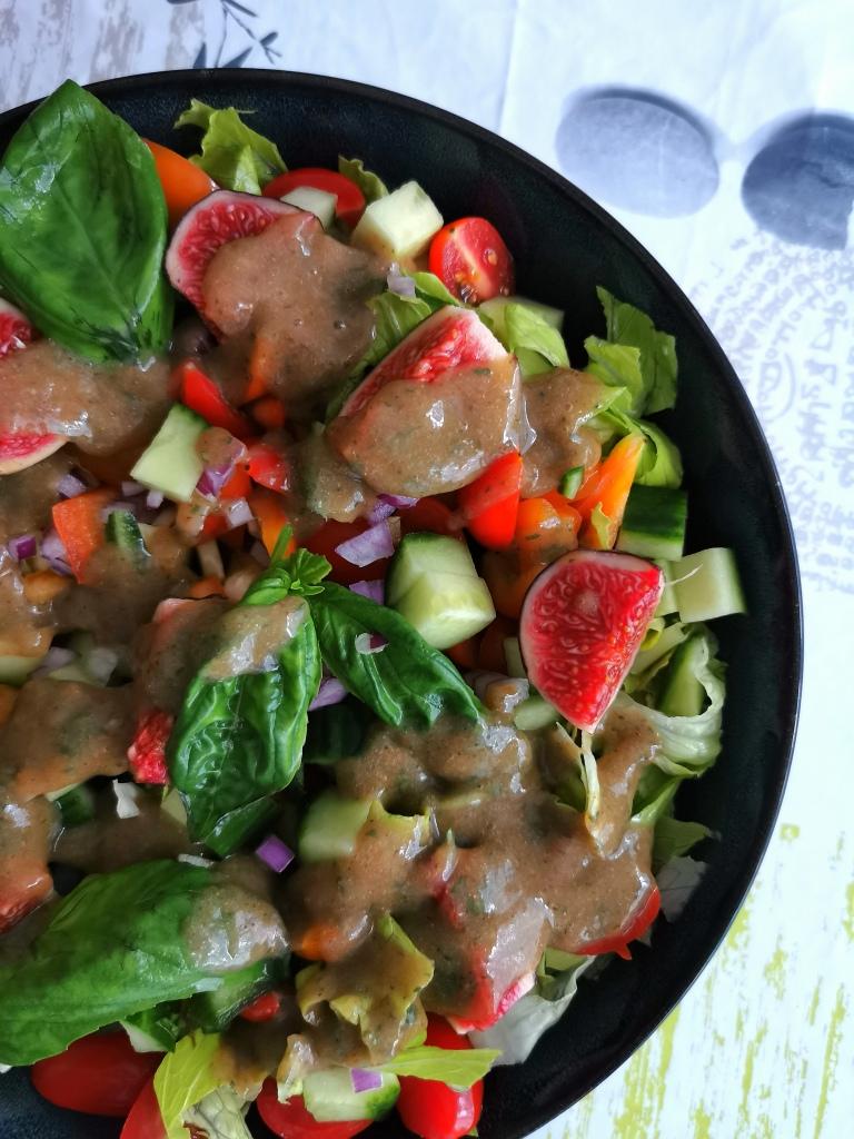 zoom salade de figues vegan et sans gluten médical médium compatible